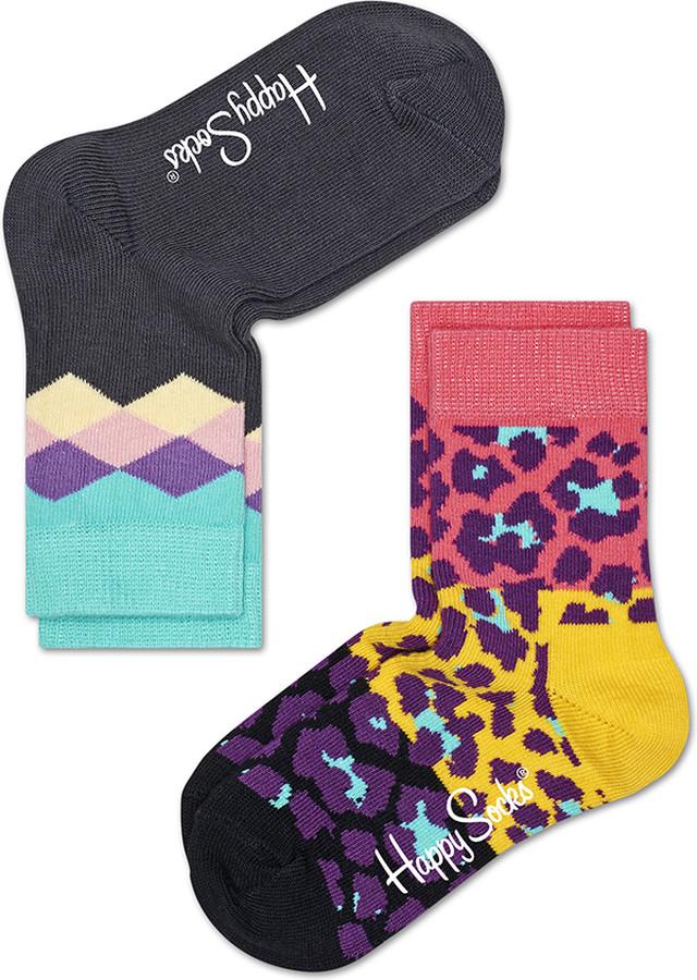 Happy Socks 2-Pack Block Leopard Socks KBLE02-3001 4384