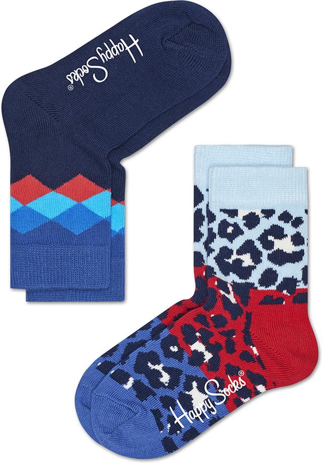 Happy Socks 2-Pack Block Leopard Socks KBLE02-6001 4389