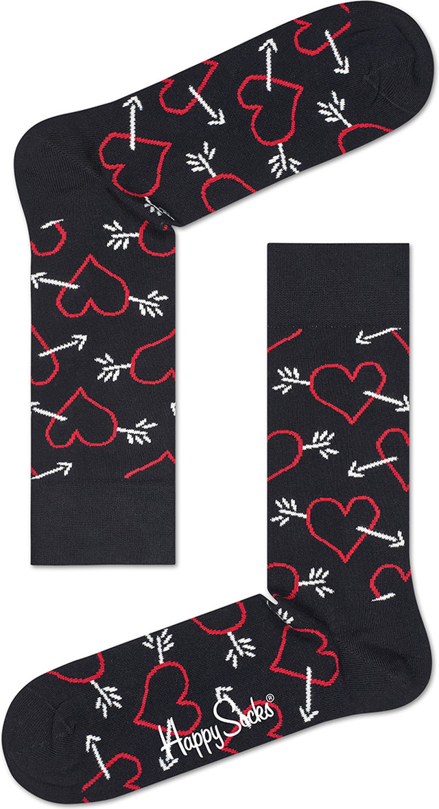 Happy Socks Arrow & Heart Sock ARH01-9001 3369