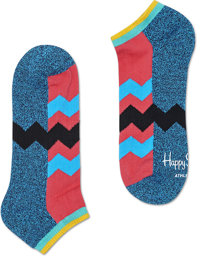 Happy Socks Athletic Zig Stripe Low Sock ATZST05-6000 3370