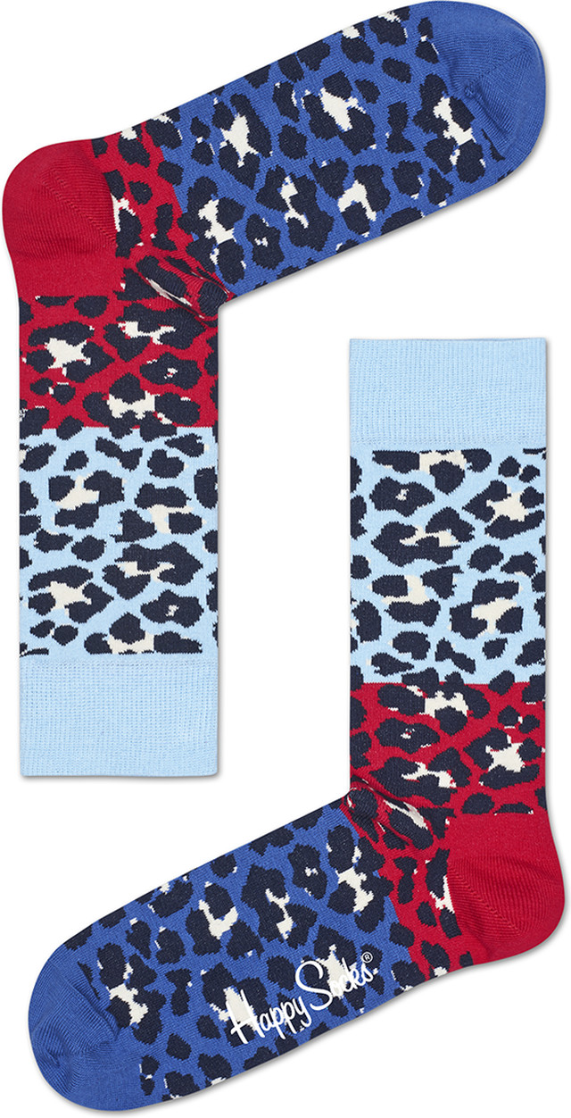 Happy Socks Block Leopard Sock BLE01-6001 4125