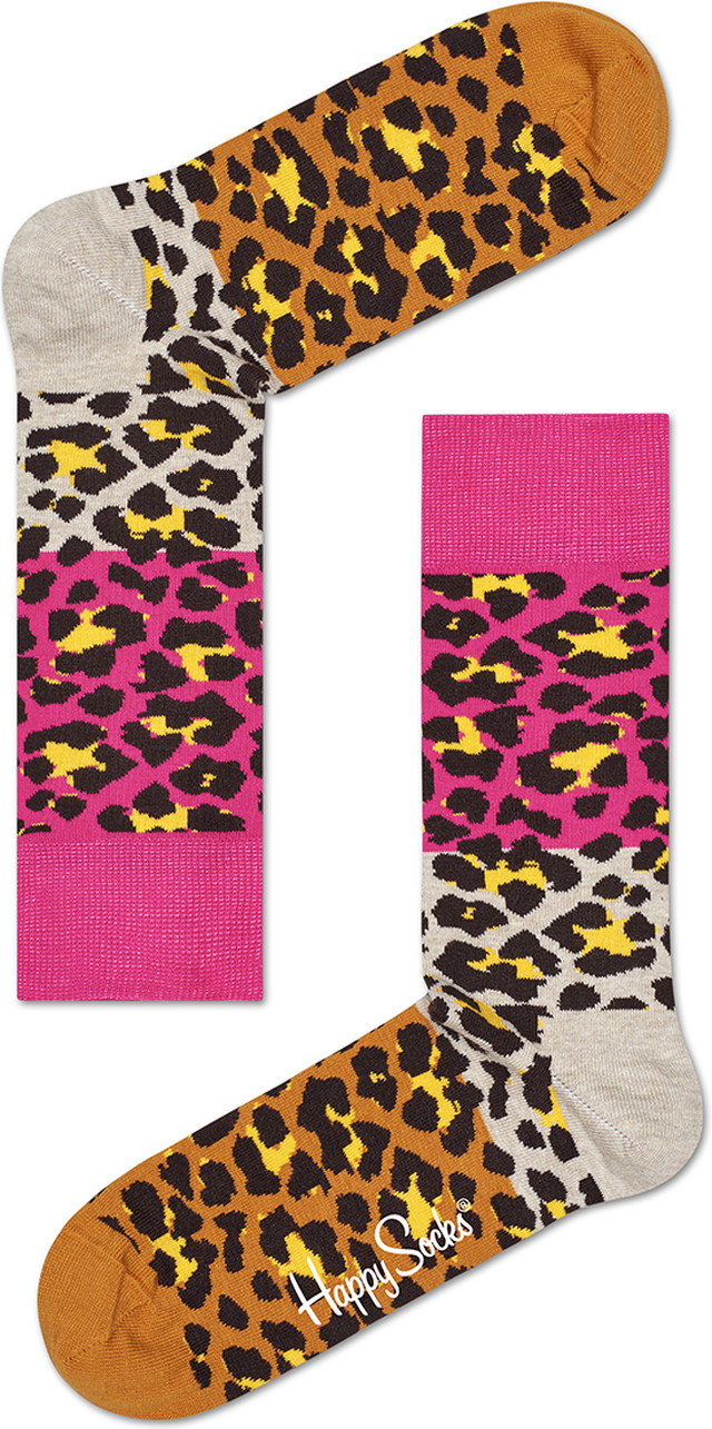 Happy Socks Block Leopard Sock BLE01-8000 4129