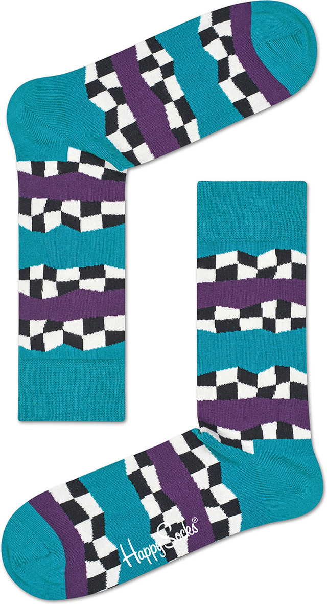 Happy Socks Checkered Stripe Sock CST01-6001 3370