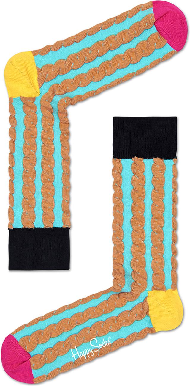 Happy Socks Embossed Cable Sock SC30-073 2779
