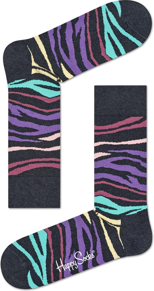 Happy Socks ZEBRA SOCKS MZE01-9000 4558