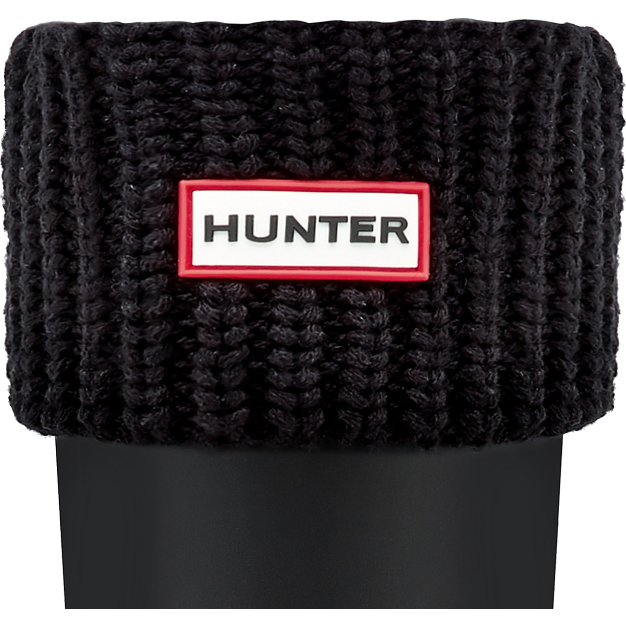 Skarpety Hunter  <br/><small>HALF CARDIGAN STITCH BOOT SOCKS BLACK </small>  UAS3004AACBLACK
