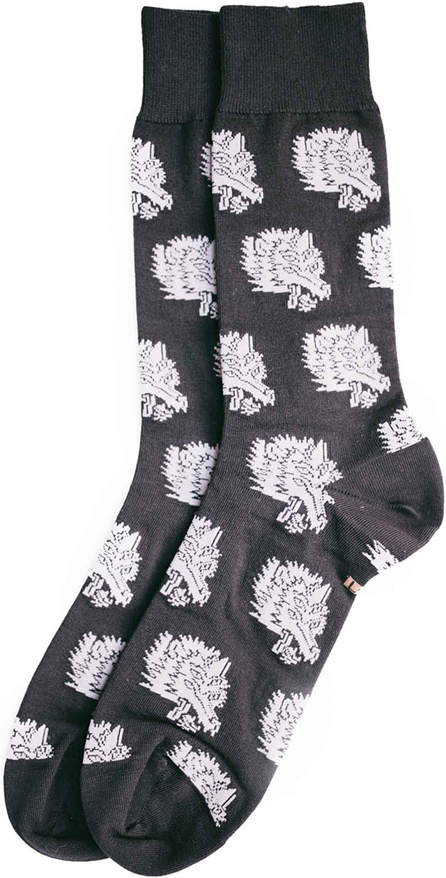 Sock'm Wolf Head Sock 334 25334