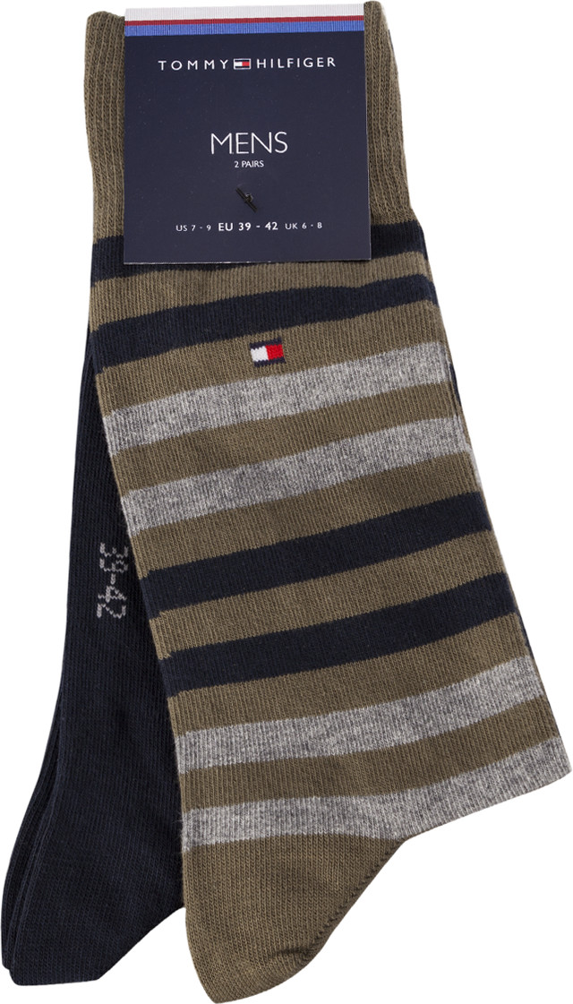Tommy Hilfiger MEN DUO STRIPE SOCK 2PACK 150 MULTICOLOR 472001001-150
