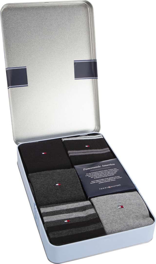 Tommy Hilfiger MEN DUO STRIPES BOX 5PACK 200 GREY/BLACK 482010001-200