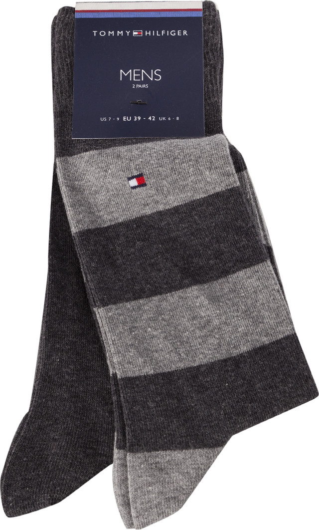 Skarpety 2Pack Tommy Hilfiger  <br/><small>MEN RUGBY SOCK201 ANTHRACITE </small>  342021001-201