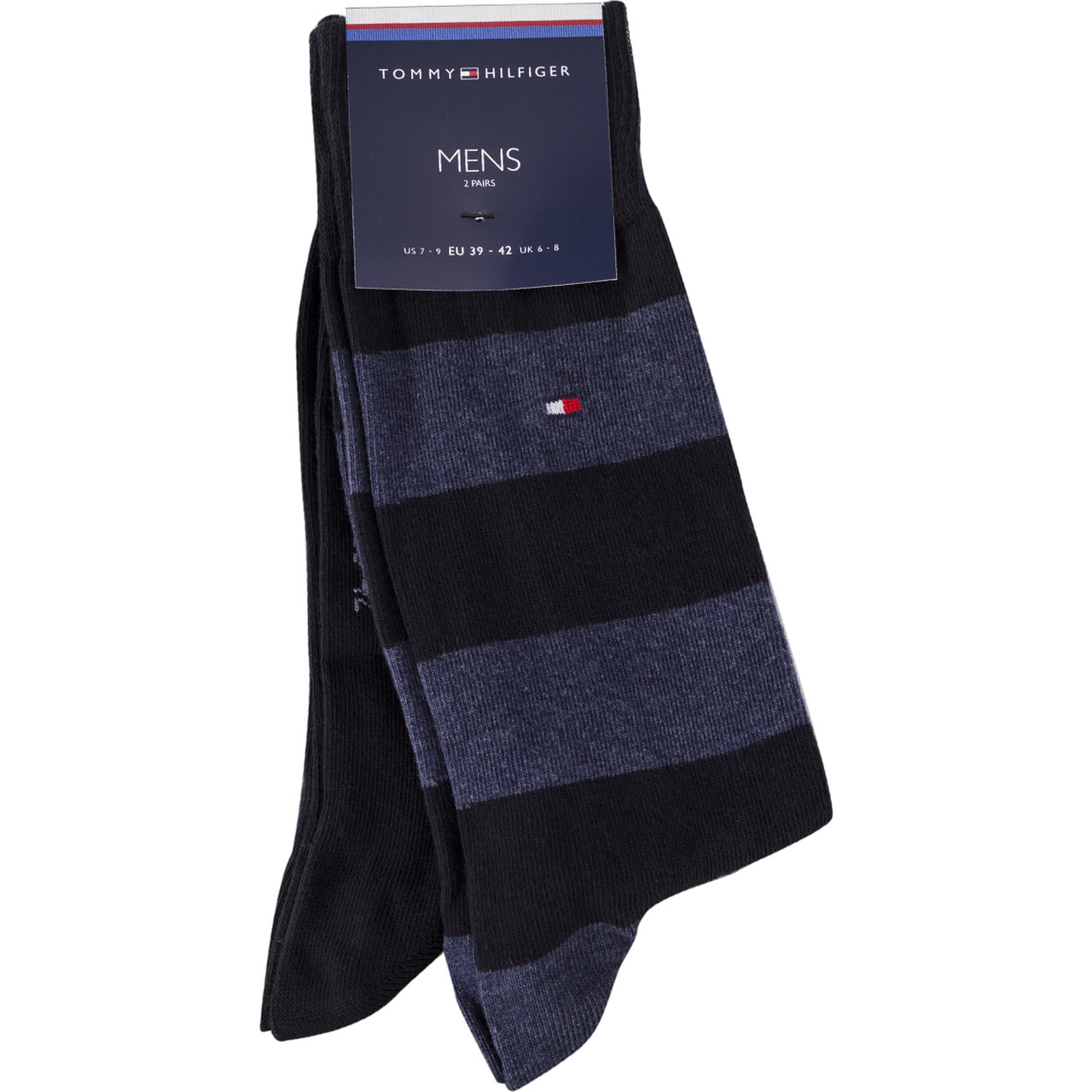 Skarpety 2Pack Tommy Hilfiger  <br/><small>MEN RUGBY SOCK322 BLACK/BLUE </small>  342021001-322