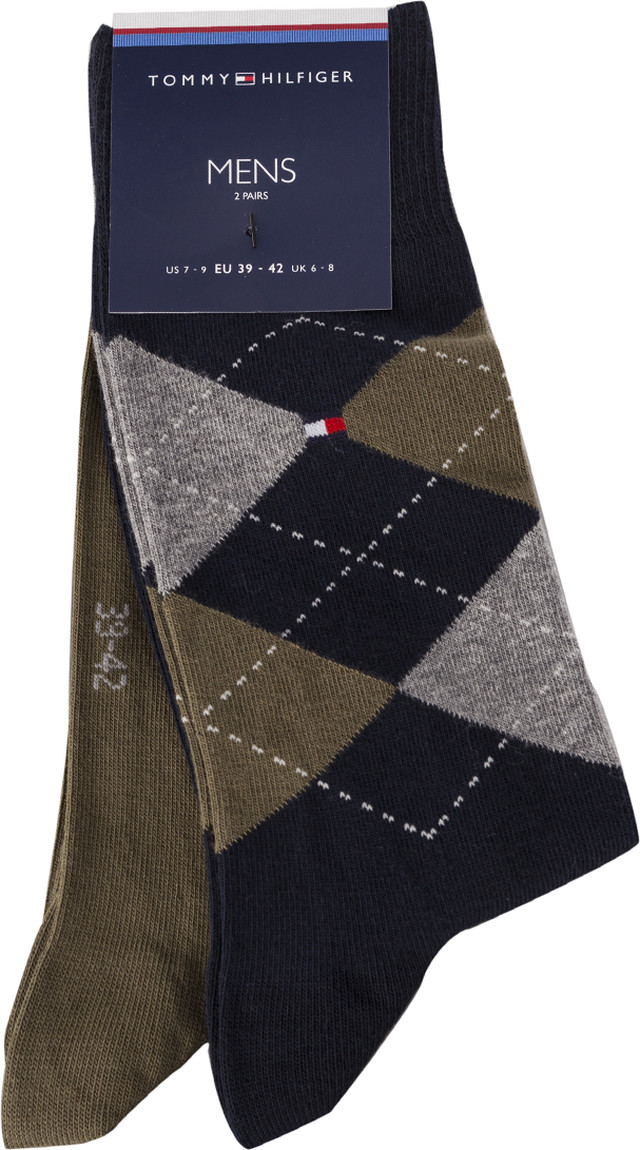 Tommy Hilfiger MEN SOCK CHECK 2PACK 150 MULTICOLOR 931156-150