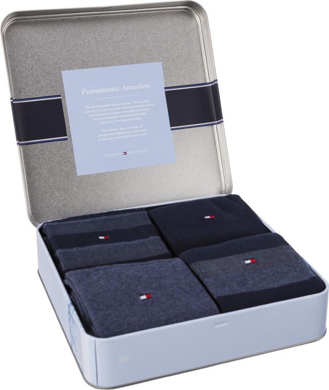 Tommy Hilfiger MEN STRIPE BOX 4PACK 322 DARK NAVY 482002001-322
