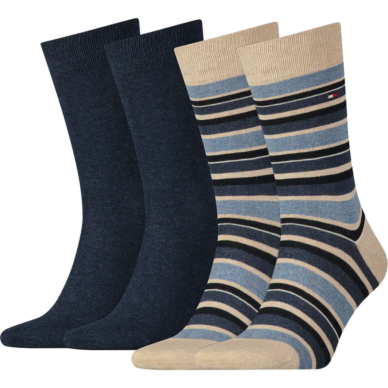 Skarpety 2Pack Tommy Hilfiger  <br/><small>Men Variation Stripe So 360 </small>  342010001-360