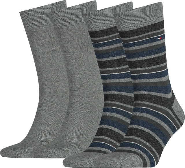 Skarpety 2Pack Tommy Hilfiger  <br/><small>Men Variation Stripe So 758 </small>  342010001-758