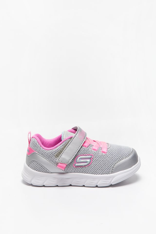 GREY/PINK Skechers COMFY FLEX MOVING ON 302107N-SLHP