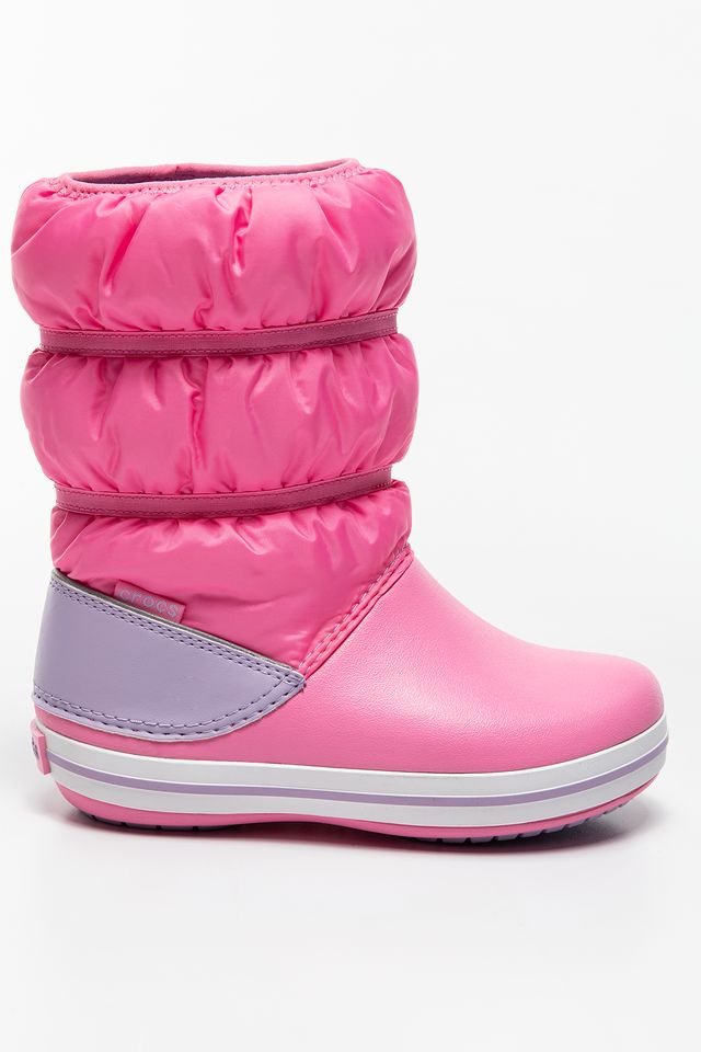 PINK LEMONADE/LAVENDER CROCBAND WINTER BOOT KIDS 206550  206550-6QM