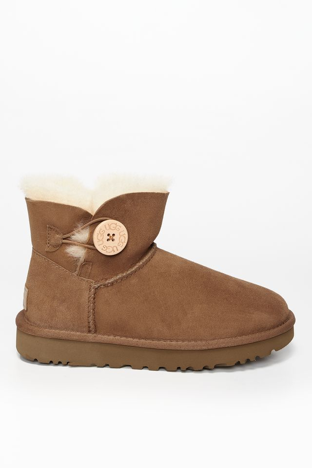 UGG MINI BAILEY BUTTON II CHESTNUT UGG-1016422/CHE