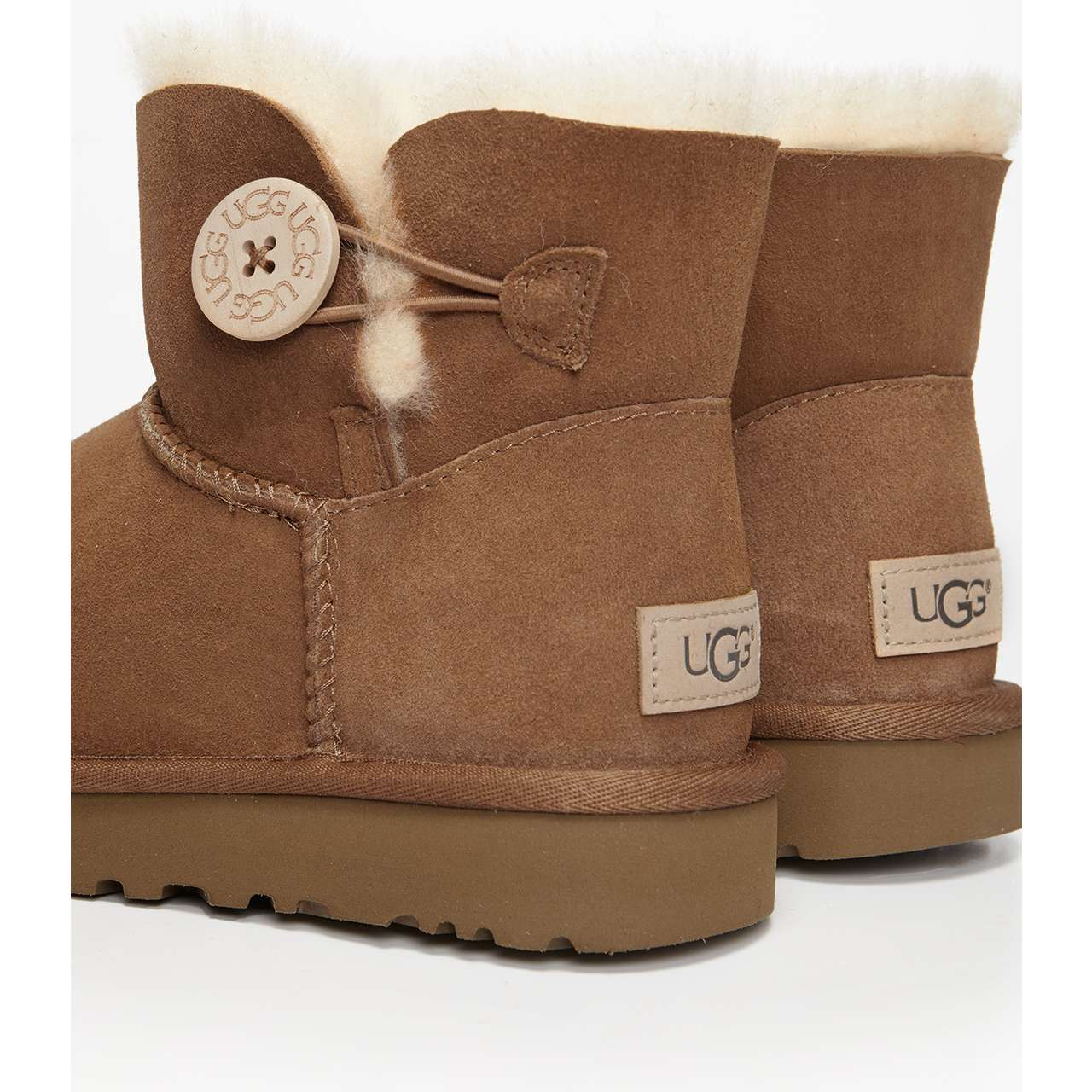 śniegowce UGG  <br/><small>MINI BAILEY BUTTON II CHESTNUT </small>  UGG-1016422/CHE