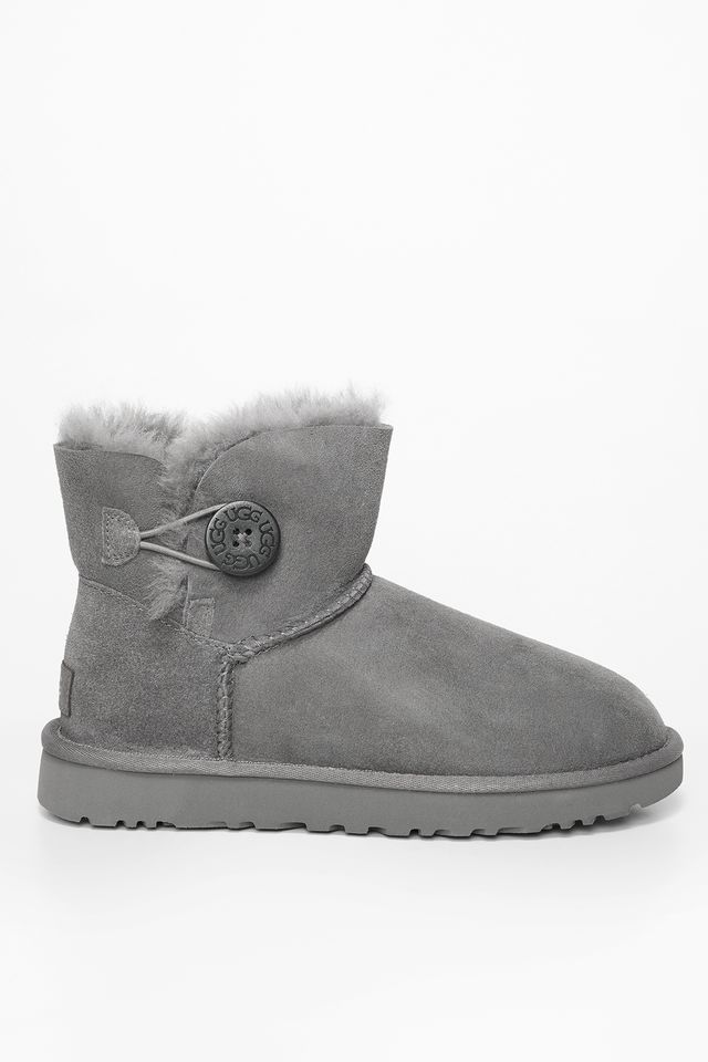 śniegowce UGG  <br/><small>MINI BAILEY BUTTON II GREY </small>  UGG-1016422/GRY