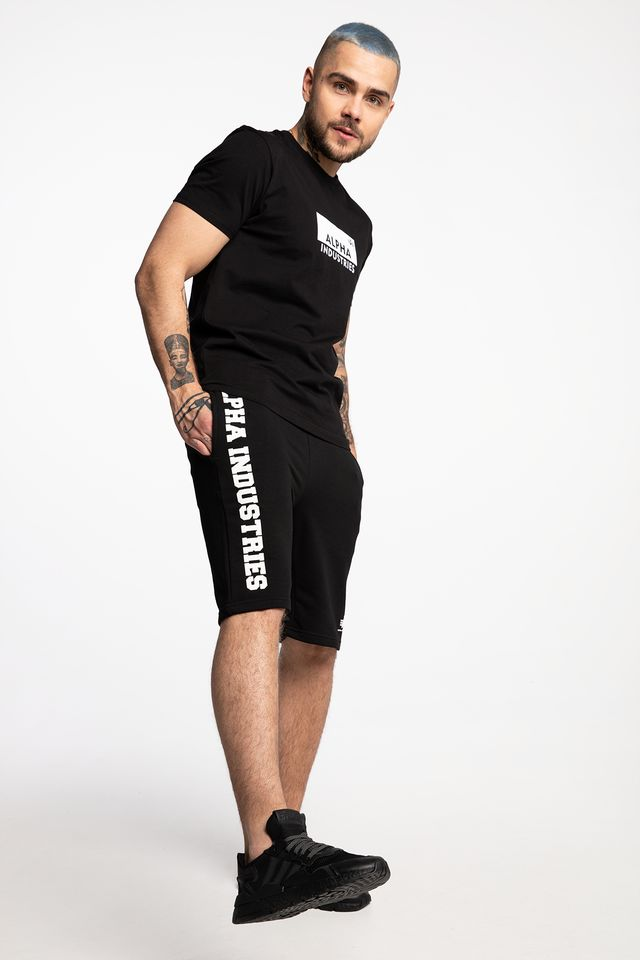 Alpha Industries BIG LETTERS SHORT 03 BLACK 126344-03
