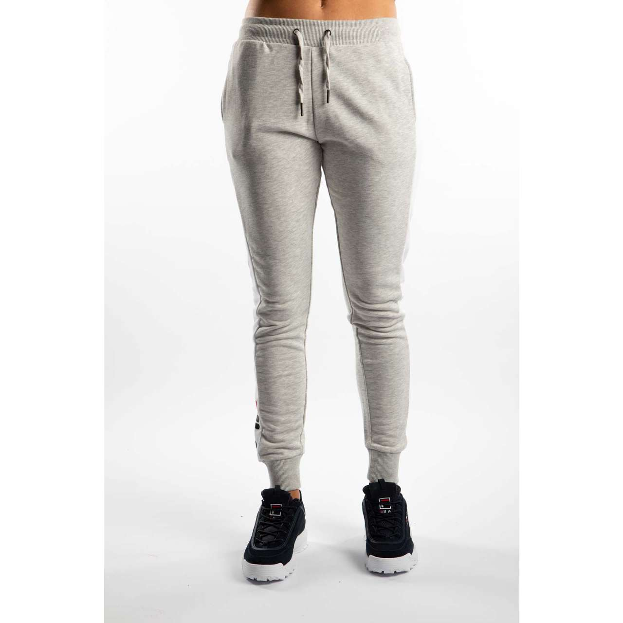 Spodnie Fila  <br/><small>FREYA SWEAT PANTS A068 LIGHT GREY MELANGE BROS/BRIGHT WHITE </small>  687091-A068
