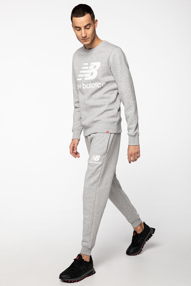 GREY ESSENTIALS STACKED LOGO SWEATPANT NBMP03558-AG