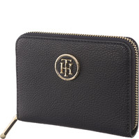 Tommy Hilfiger CORE COMPACT ZIP AROUND WALLET BLACK AW0AW05190-413