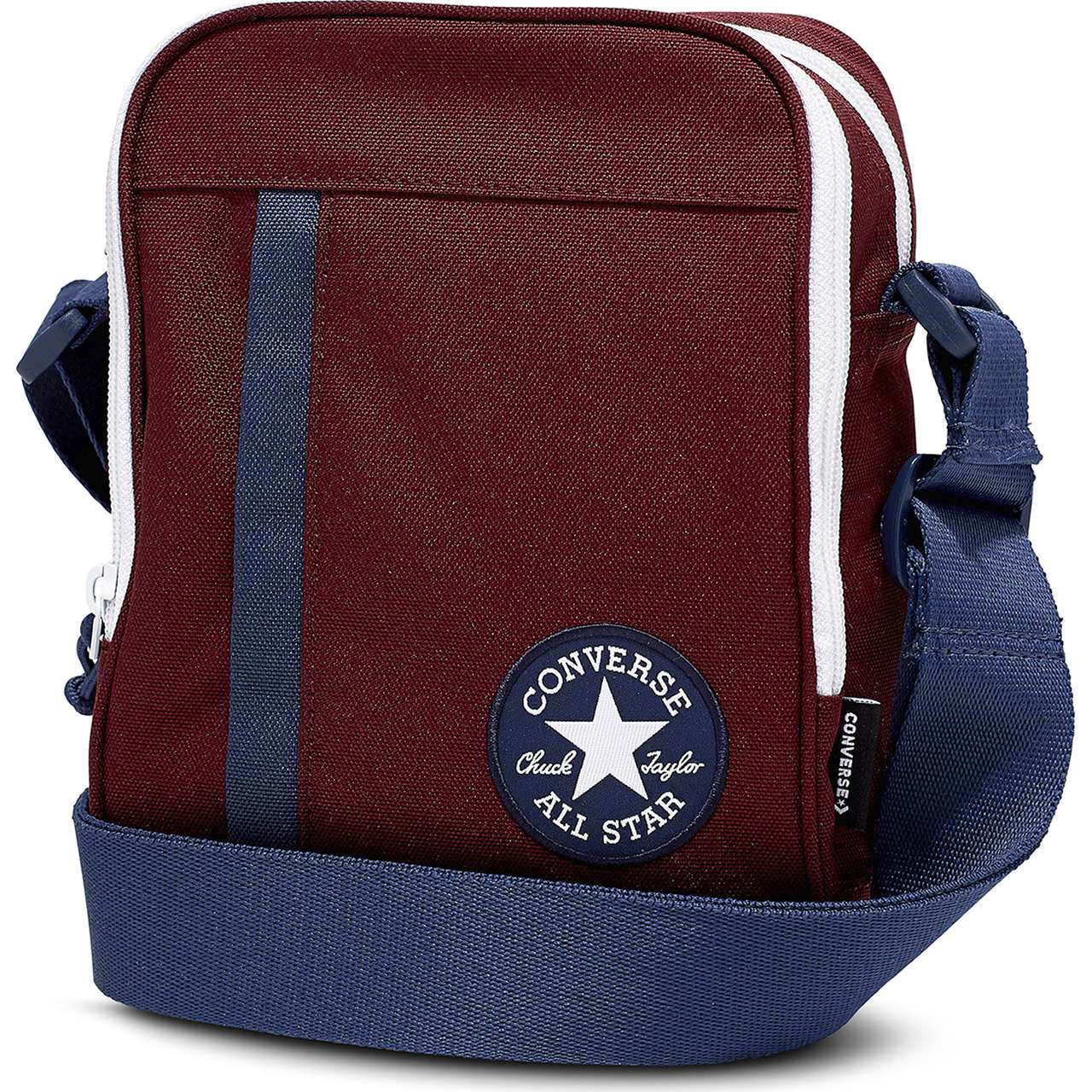 Torba Converse  <br/><small>CROSS BODY A04 DARK BURGUNDY/NAVY/WHITE </small>  10006933-A04