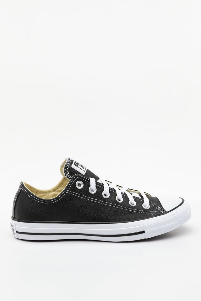 Black 132174 Chuck Taylor All Star LEATHER