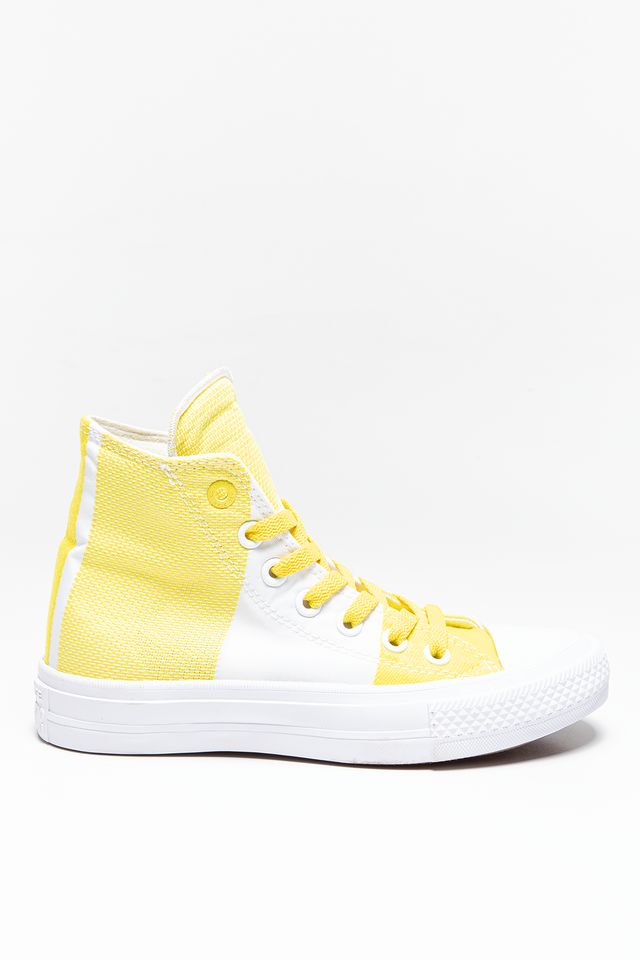 White/Yellow 155417 Chuck Taylor All Star II Engineered Woven