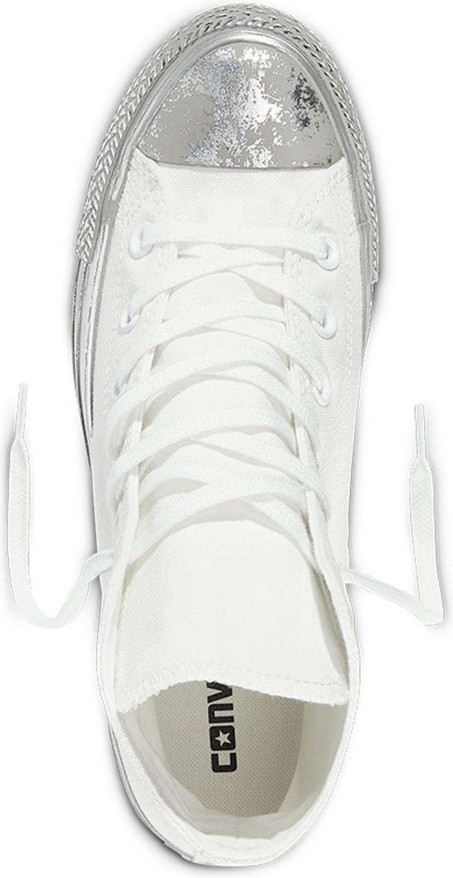 Converse Silver Chuck Taylor All Star Cześć Srebrne buty