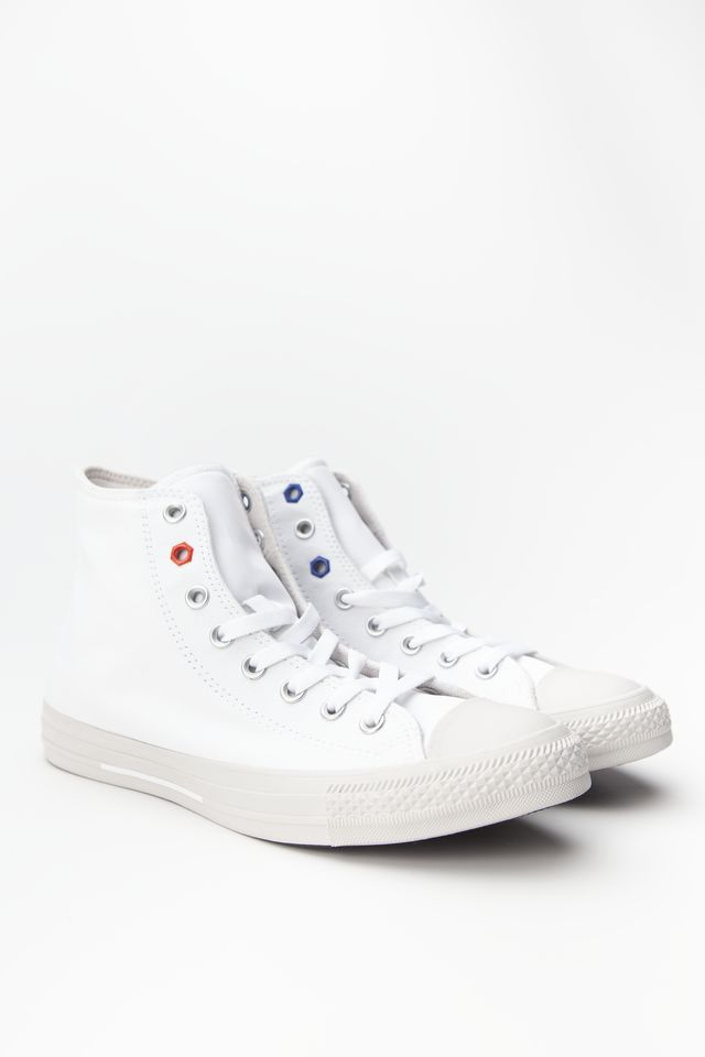 Converse CHUCK TAYLOR ALL STAR HI 051 WHITE/HABANERO RED/PALE PUTTY 165051C