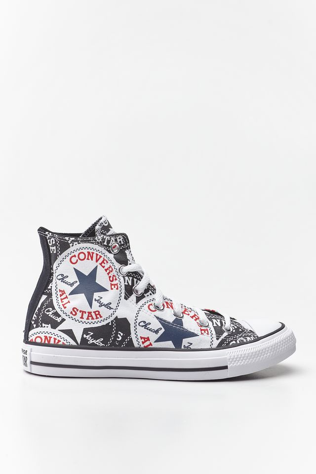 BLACK/MULTI/WHITE CHUCK TAYLOR ALL STAR HI 985