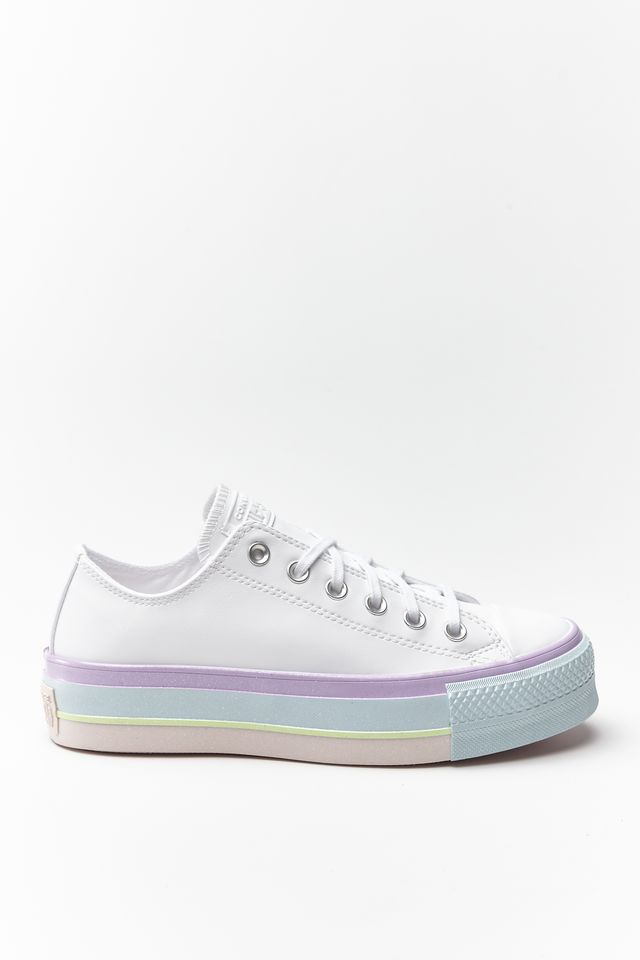 Converse CHUCK TAYLOR ALL STAR LIFT OX 156 WHITE/LILAC MIST/POLAR BLUE 566156C