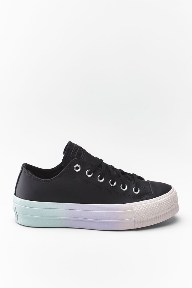 Converse CHUCK TAYLOR ALL STAR LIFT OX 157 BLACK/WHITE/POLAR BLUE 566157C