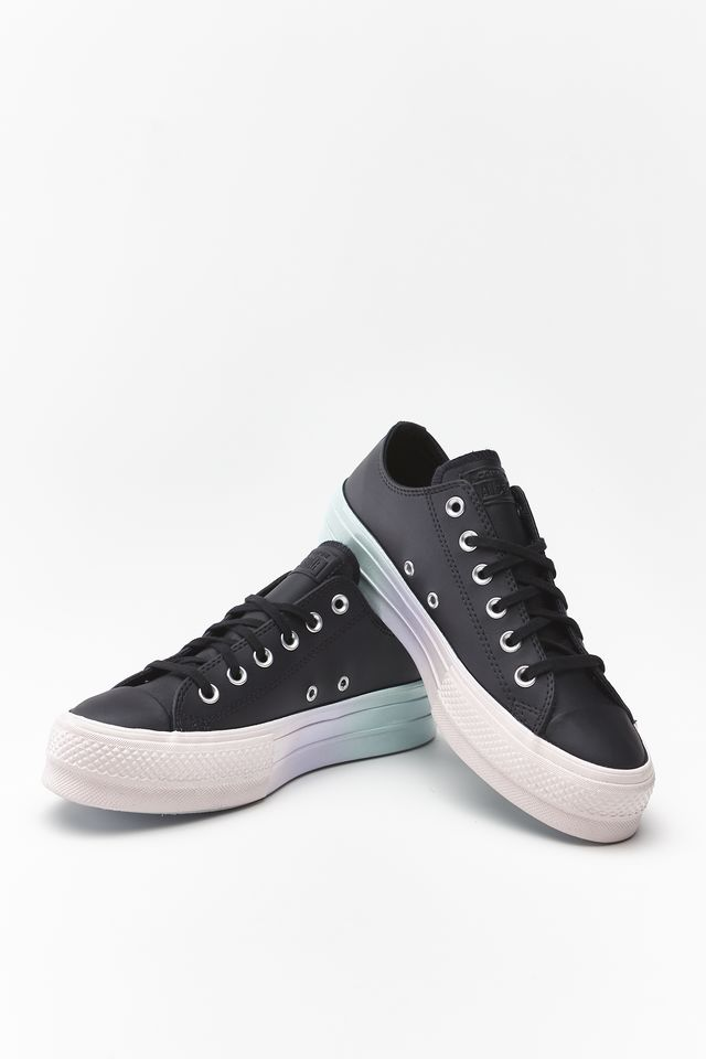 Trampki Converse  <br/><small>CHUCK TAYLOR ALL STAR LIFT OX 157 BLACK/WHITE/POLAR BLUE </small>  566157C