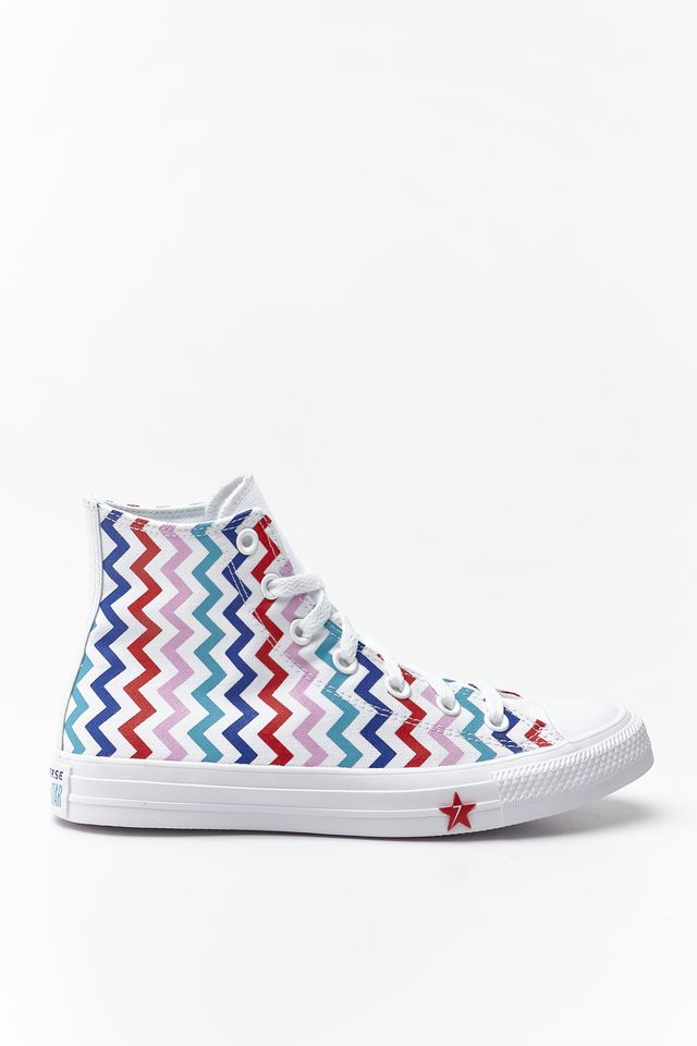 WHITE/UNIVERSITY RED CHUCK TAYLOR ALL STAR HI 046