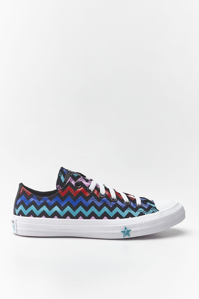 Converse CHUCK TAYLOR ALL STAR OX 102 BLACK/PEONY PINK/RAPID TEAL 567102C