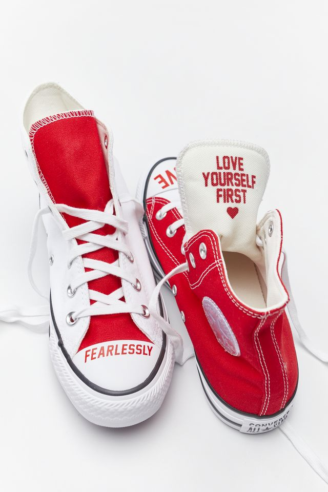 WHITE/UNIVERSITY RED/BLACK CHUCK TAYLOR ALL STAR HI 310