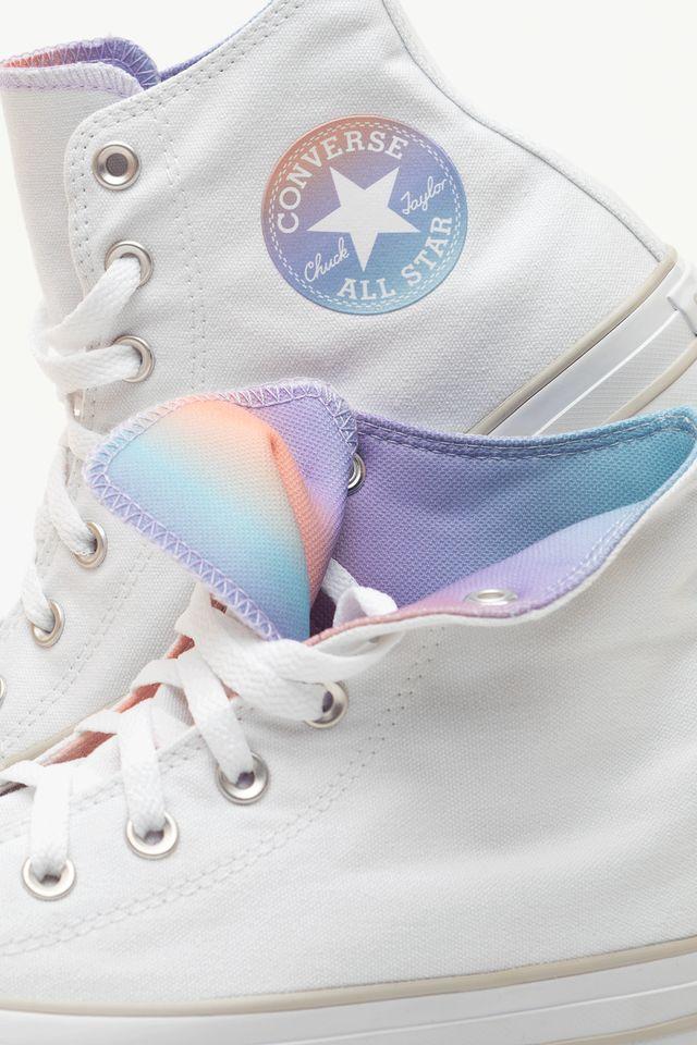 Converse CHUCK TAYLOR ALL STAR HI 737 WHITE/IRIDESCENT 567737C