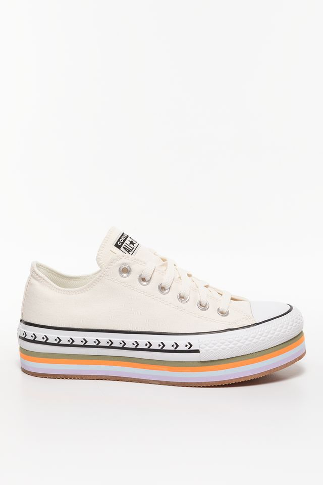 EGRET/TOTAL ORANGE/GUM Chuck Taylor Platform Layer OX 567847C