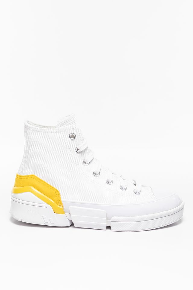 WHITE / SPEED YELLOW / BLACK CONVERSE CHUCK TAYLOR ALL STAR 48C