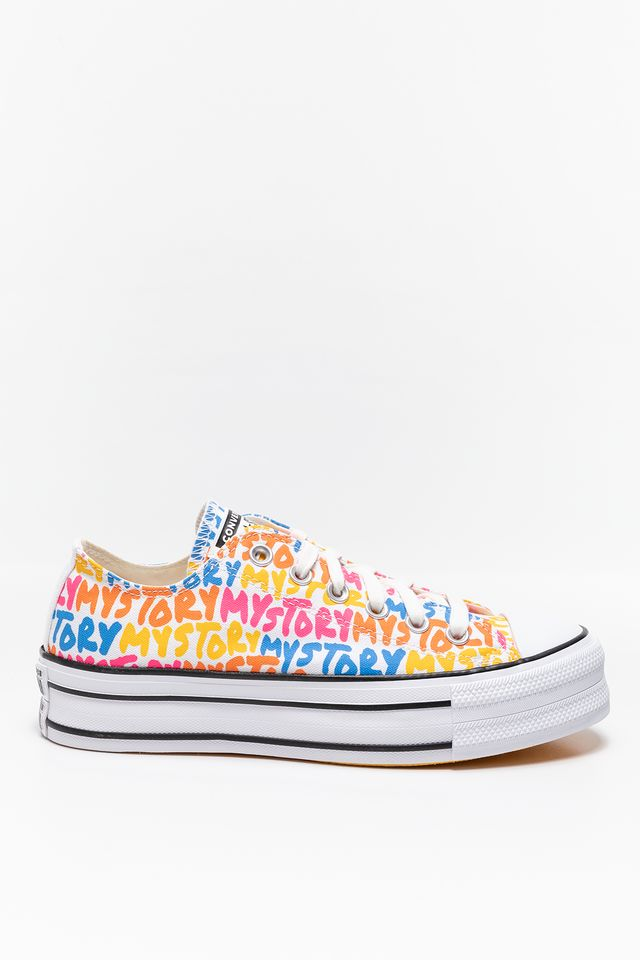 COLORFUL TRAMPKI MY STORY PLATFORM CHUCK TAYLOR ALL STAR LOW TOP 570322C