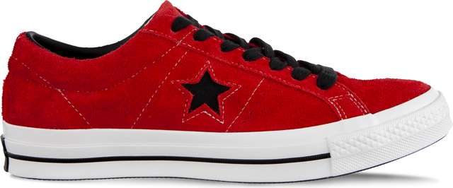 Converse ONE STAR DARK STAR C163246 ENAMEL RED/BLACK/WHITE