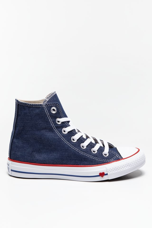 Converse CHUCK TAYLOR ALL STAR SUCKER LOVE C163303 INDIGO/ENAMEL RED/BLUE