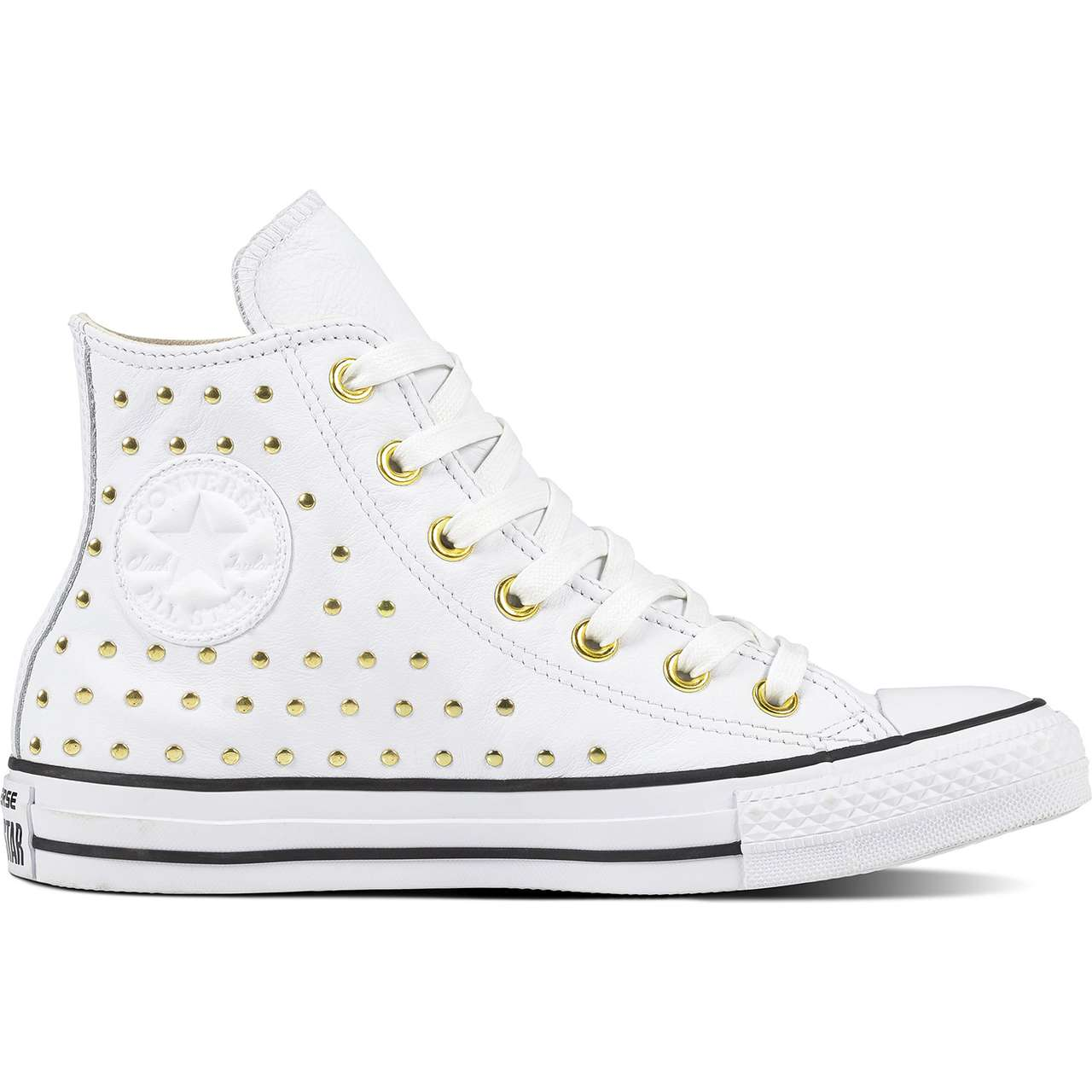 Trampki Converse  <br/><small>CHUCK TAYLOR ALL STAR LEATHER WHITE/WHITE/GOLD </small>  C561683