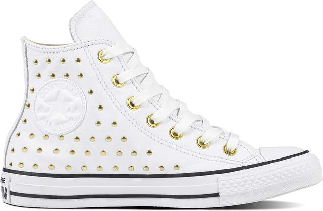 Converse CHUCK TAYLOR ALL STAR LEATHER WHITE/WHITE/GOLD C561683