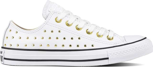 Converse CHUCK TAYLOR ALL STAR LEATHER WHITE/WHITE/GOLD C561684