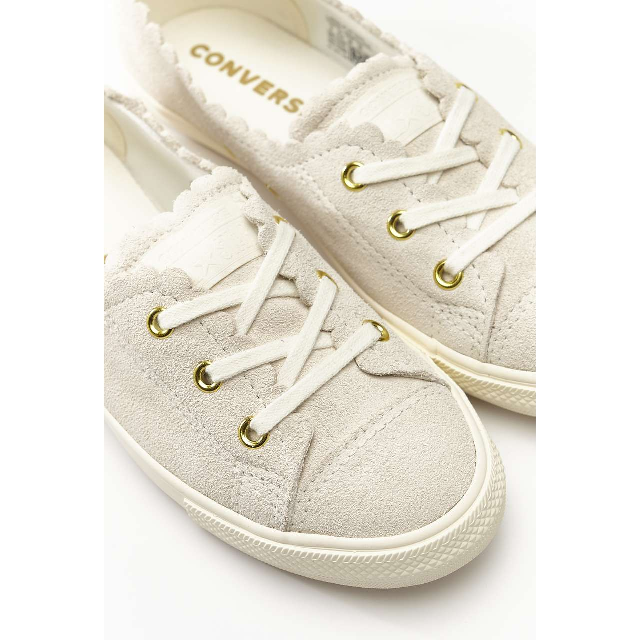 Trampki Converse  <br/><small>CHUCK TAYLOR ALL STAR BALLET SCALLOP 482 EGRET/GOLD/EGRET </small>  C563482